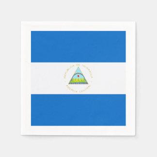 Flagga: Nicaragua Pappersservett