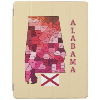 Flagga och karta av Alabama iPad Skydd
