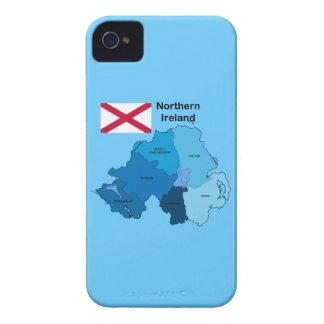 Flagga och karta av nordligt - ireland iPhone 4 fodral