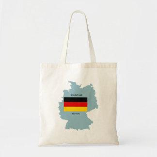 Flagga och karta av Tysklandet Tote Bags