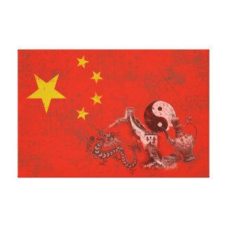 Flagga och symboler av chinan ID158 Canvastryck