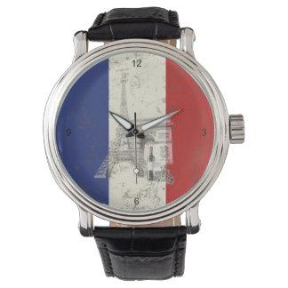 Flagga och symboler av frankriken ID156 Armbandsur
