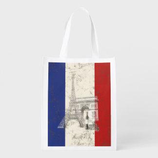 Flagga och symboler av frankriken ID156 Återanvändbar Påse