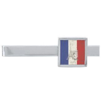 Flagga och symboler av frankriken ID156 Slipsnål Med Silverfinish