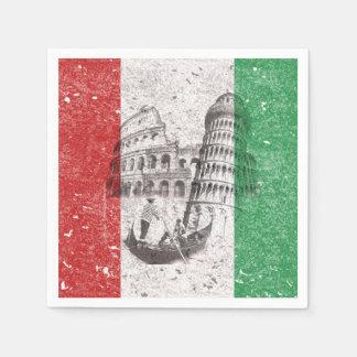 Flagga och symboler av italien ID157 Servett