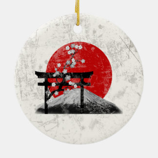 Flagga och symboler av Japan ID153 Julgransprydnad Keramik