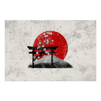 Flagga och symboler av Japan ID153 Poster