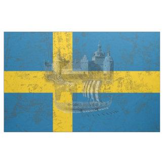 Flagga och symboler av sverigen ID159 Tyg