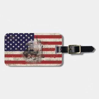 Flagga och symboler av United States ID155 Bagagebricka