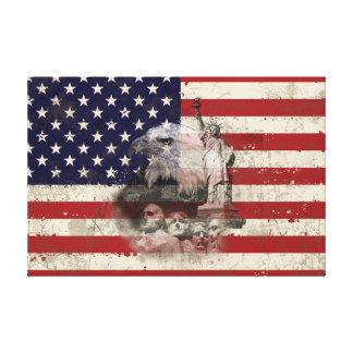 Flagga och symboler av United States ID155 Canvastryck