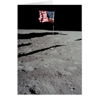Flagga på månen, Apollo 11, NASA Hälsningskort