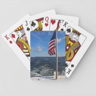Flagga som vinkar över Lake Michigan Casinokort