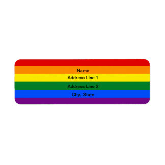 Flaggaadressetiketter för anpassningsbar LGBT Returadress Etikett