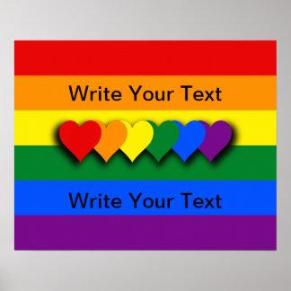 Flaggaaffisch för anpassningsbar LGBT Poster
