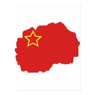 Flaggakarta av SR Makedonien Vykort