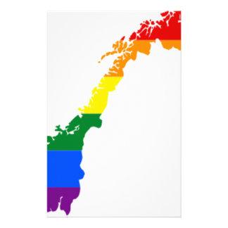 Flaggakarta för norge LGBT Brevpapper