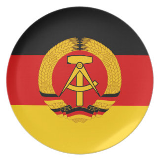 Flagge der DDR - flagga av GDREN (East Germany) Tallrik