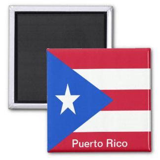 Flaggor av Puerto Rico Magnet