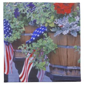 Flaggor och blommor i Philipsburg Montana Tygservett