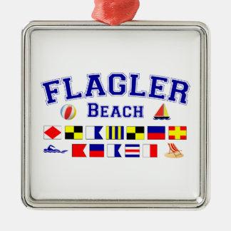 Flagler strand, FL - nautiskt stava Julgransprydnad Metall