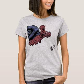 Flails utrymmesnigelkvinna utslagsplats t-shirts