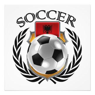 Fläkten för Albanien fotboll 2016 utrustar Fototryck