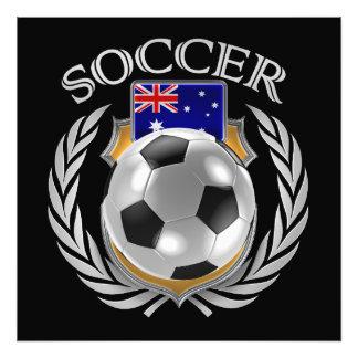 Fläkten för Australien fotboll 2016 utrustar Fototryck