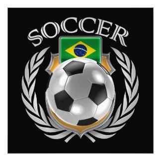 Fläkten för Brasilien fotboll 2016 utrustar Fototryck