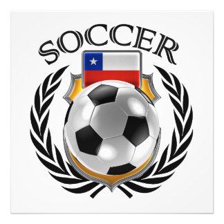 Fläkten för Chile fotboll 2016 utrustar Fototryck