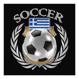 Fläkten för Grekland fotboll 2016 utrustar Fototryck