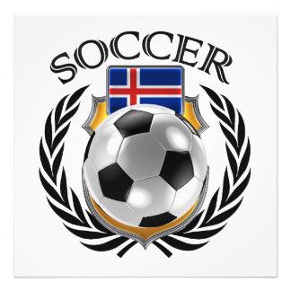 Fläkten för islandfotboll 2016 utrustar fototryck