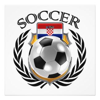 Fläkten för Kroatienfotboll 2016 utrustar Fototryck