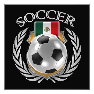 Fläkten för Mexico fotboll 2016 utrustar Fototryck