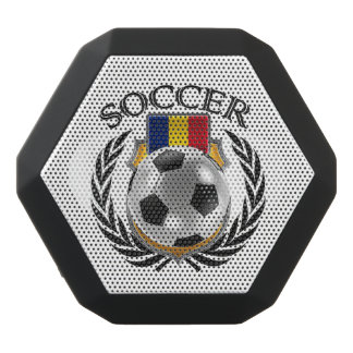 Fläkten för rumänienfotboll 2016 utrustar svart bluetooth högtalare