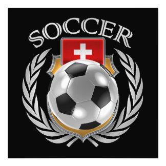 Fläkten för Schweitz fotboll 2016 utrustar Fototryck