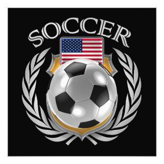 Fläkten för USA fotboll 2016 utrustar Fototryck