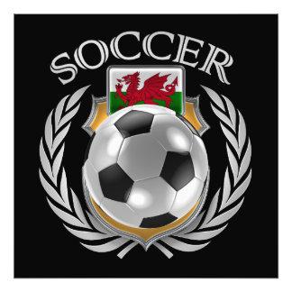 Fläkten för Wales fotboll 2016 utrustar Fototryck
