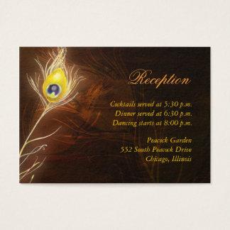 Flamboyant bilaga för påfågelfjädermottagande visitkort