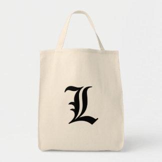 """Flamboyant monogram """"L """", Mat Tygkasse"""