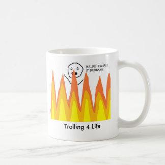 Flame War som fiska med drag i liv 4 Kaffemugg