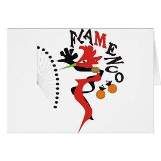 Flamenco Hälsningskort