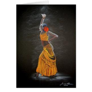"""""""Flamenco """", Hälsningskort"""