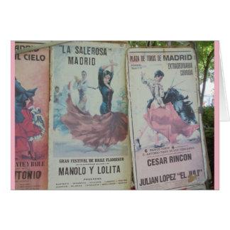 Flamencoaffischer, Madrid Hälsningskort