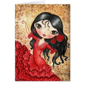 """""""Flamencodansare """", Hälsningskort"""