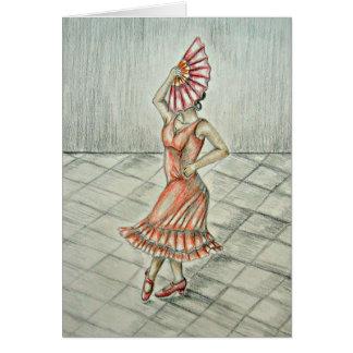 Flamencodansare Hälsningskort