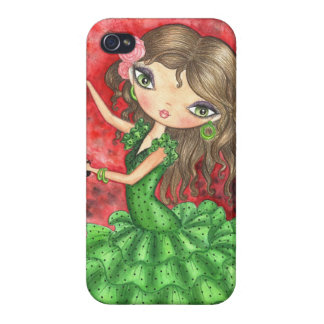 """Flamencodansare med Castanets "", iPhone 4 Cover"