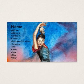 FLAMENCODANSAREakvarell Visitkort