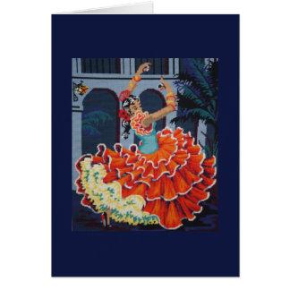 Flamencodansarekort Hälsningskort