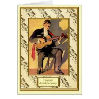 Flamencogitarrist Hälsningskort