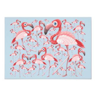 Flamingo 12,7 X 17,8 Cm Inbjudningskort